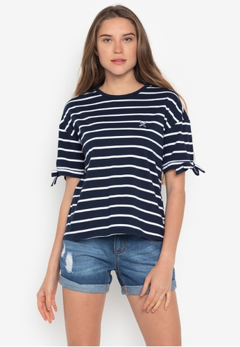 REGATTA blue Boxy Tee With Self Fabric Tie Detail 55340AAF984A8EGS_1