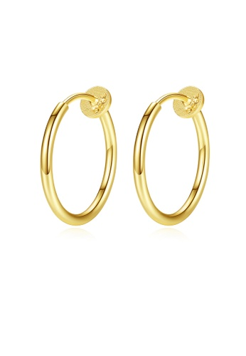 SUNRAIS gold High quality Silver S925 gold simple design earrings 1F83DACBDC906AGS_1
