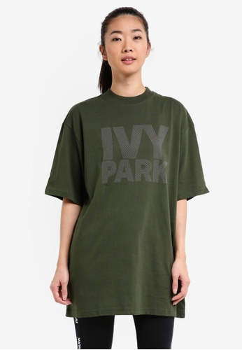 Ivy Park green Dots Logo Fitted Tee B16BDAA8F52154GS_1