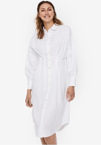 Vero Moda white Charlotte Midi Shirt Dress 6A4DFAA7E02241GS_1