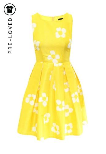 Alice Olivia Yellow Flower Dress