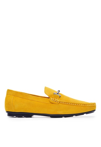 Life8 yellow Loafers In Leather With Clasp Detail-Yellow-09801 8EEB9SHD301240GS_1