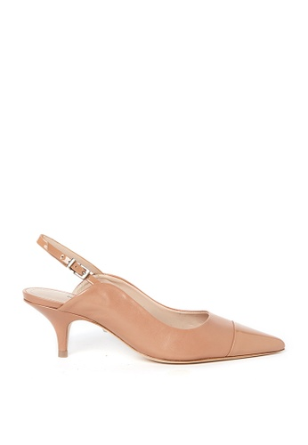 SCHUTZ beige SCHUTZ Sling-back Low Heel Shoes - IDA (TOASTED NUT) 4D091SH572B9CCGS_1