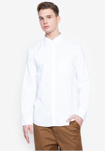 Cortefiel white Coolmax Plain Shirt 51B45AA1093355GS_1