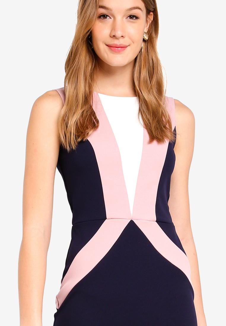 Navy Cream Dolls Dress Rose Paper Block Colour wvOTq