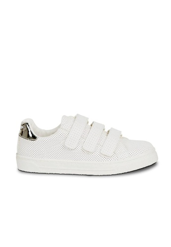 Andre white ADCARLINE Triple Strap Trainers AN324SH27GXGSG_1