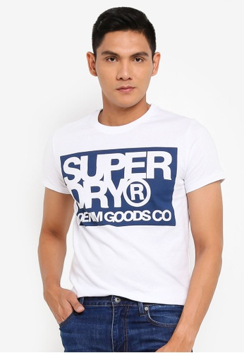Superdry white Denim Goods Co Print Tee 8CDC2AAC26E8C2GS_1