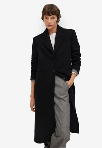 Mango black Wool Coat Chain Detail D9FB7AA34C84A8GS_1