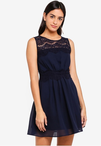 ZALORA navy Bridesmaid Lace Insert Dress B41FFAAEE99188GS_1