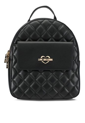 Love Moschino black Borsa Quilted Nappa Backpack LO478AC0SEIAMY_1