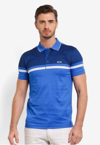 Boss Green blue Paule 5 Polo Shirt BO516AA0RIC6MY_1