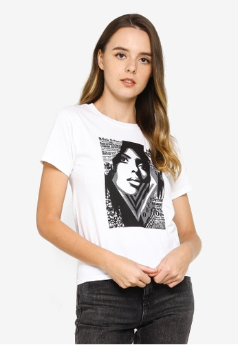 OBEY white Bias By Numbers T-Shirt D01D1AA70ECE0CGS_1