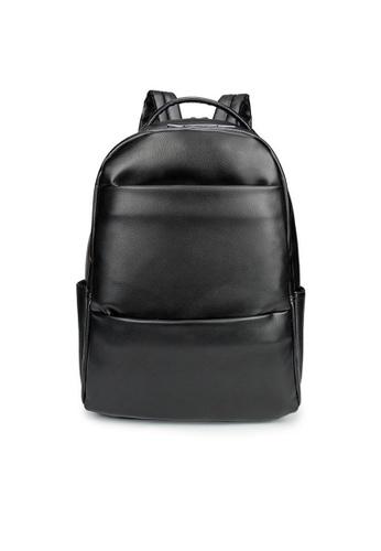Lara black Plain Zipper Backpack for Men ADBA7AC78E1827GS_1
