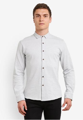 ZALORA blue Stripe Jersey Long Sleeve Shirt E78C5AA27BE14EGS_1