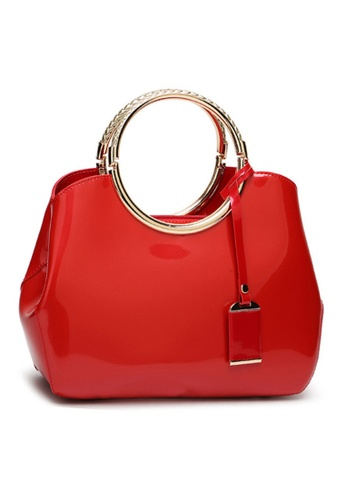Twenty Eight Shoes red VANSA Classic Patent Leather Hand Bag VBW-Hb301 6EE29AC7D699DFGS_1