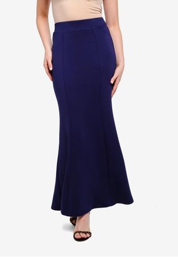 ZALIA BASICS 海軍藍色 Basic Mermaid Skirt 281A1AAE78D465GS_1