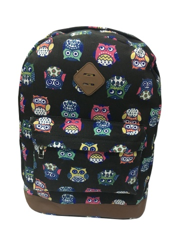 TCWK black TCWK Women Canvas Backpack 0C937ACCD7D8B5GS_1