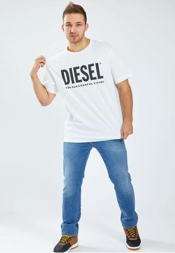 Diesel 白色 T-JUST-LOGO MAGLIETTA T-Shirt 12DD5AA19D36B7GS_1