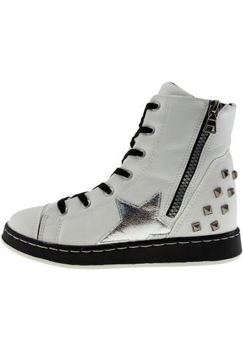 Maxstar 白色 新款韩国鞋20H-7H-TC時尚皮革布混合女白色 US Women Size MA345SH71GYETW_1