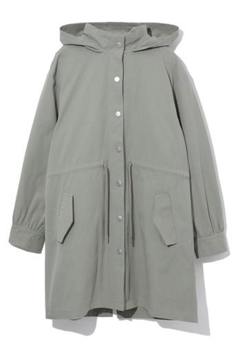 tout à coup green Sequin embellished parka coat CCDAFAAAF2E607GS_1