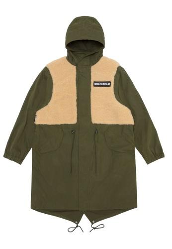 Mini cream green Logo vest over jacket B2CCAAA299333CGS_1