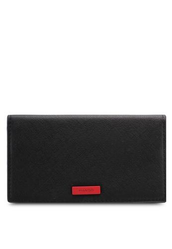 Mango black Printed Wallet 5D9D1AC84652EBGS_1