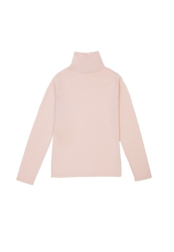 KLAPS pink Solid Tone Turtleneck Sweater 619E5AA57A0667GS_1