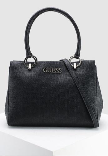 3de229e0c76c Guess black Heritage Pop Large Girlfriend Satchel Bag 3CB41AC92F239CGS 1