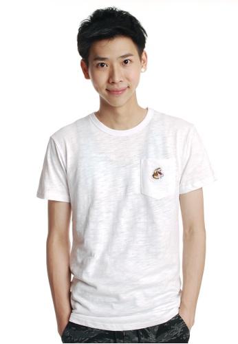 Praise white Pocket T-shirt PR067AA70YQBSG_1