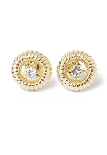 CEBUANA LHUILLIER JEWELRY gold 14 Karat Yellow Gold Earrings With Diamond 863B8AC7A9AFFBGS_1