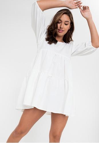 Anna Alba white Robelen Tierred Dress 70512AA7D30785GS_1