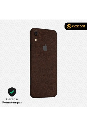 Exacoat iPhone XR 3M Skins Leather Series - Leather Brown 7EDA6ESE090A74GS_1