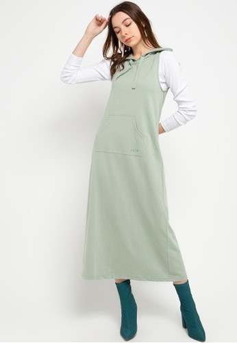 Exit green Gresia Overall With Hoodie And Embroidery B036DAA70A2AFBGS_1
