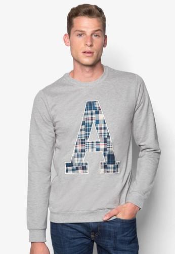 A 格紋字母長袖esprit童裝門市衫, 服飾, 服飾