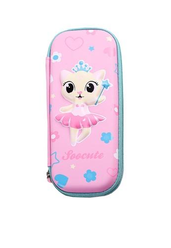 Twenty Eight Shoes pink VANSA 3D Cartoon Pencil Case  VAK-A99887 C6543KCD80CA3EGS_1