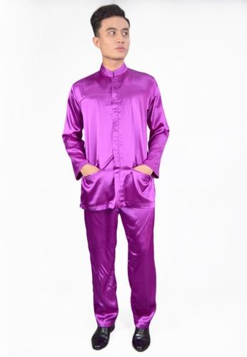 Denai Boutique purple Baju Melayu Najmi D3E63AAF52385AGS_1