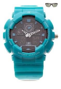 Chronograph Watch With Free Sunglasses JC-H1145C-SC-02