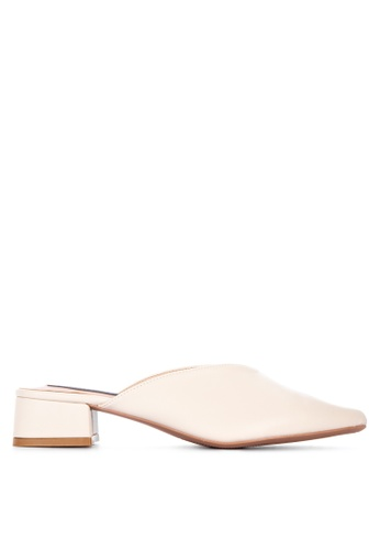 Primadonna white Heeled Mules 4D6E0SHE537059GS_1
