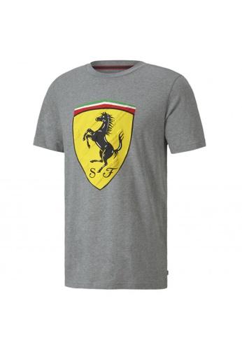 Puma grey Scuderia Ferrari Race Big Shield Men's Tee 4EED0AA1365190GS_1