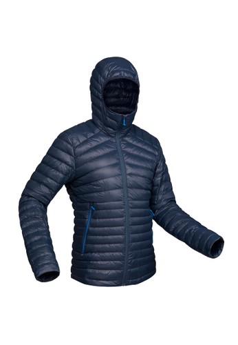 Decathlon QUECHUA Jaket Trekking Bulu Angsa Pria Biru/Abu-Abu trek 100 down jacket m navy/Grey - 8397296 6E2B2AAA8B1AF7GS_1