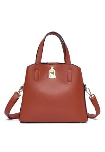 HANA brown HANA Nela Sling Bag H081 46AB9AC3824DDAGS_1