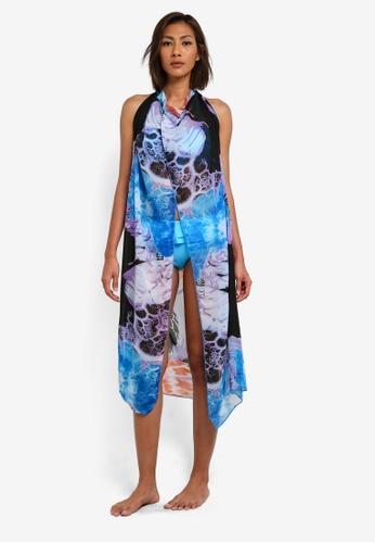 SunThing Cool blue Bailey Blue Chiffon Multi Wear Long Dress SU709US0SCS9MY_1