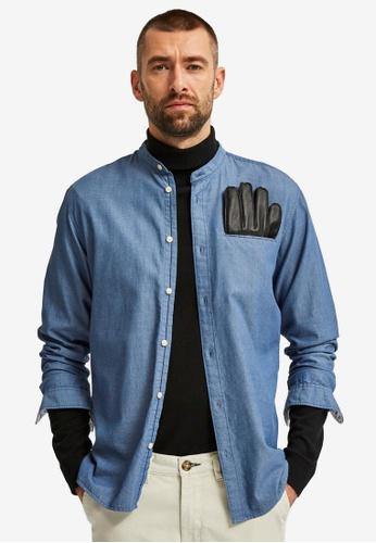 Selected Homme blue Slimtexas Shirt 14FE3AA973C938GS_1