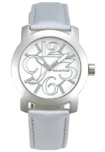 EGLANTINE silver EGLANTINE® Sara Steel quartz Watch on Grey Leather Strap 4F1D4ACE83FDB8GS_1