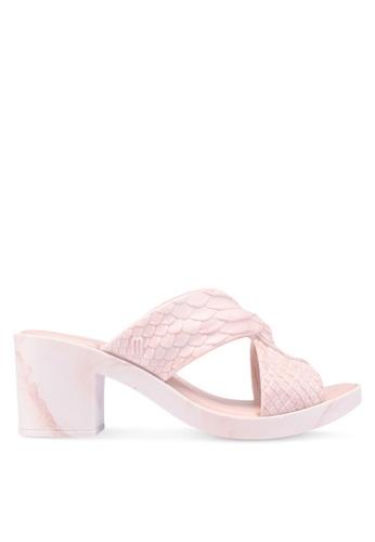 Melissa pink Melissa Python Heel Baja East Ad Heels F3F4ASHE77EF79GS_1