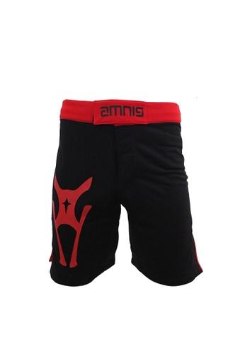 AMNIG black Amnig Men Fighter Shorts-20 (Black/red) AM133AA55JJGMY_1