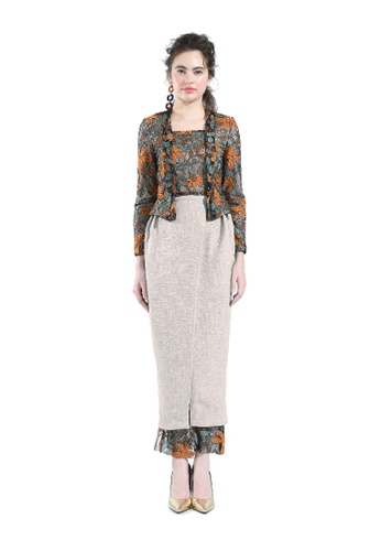 Hernani brown Meria Brown Lace Kebaya Top with Skirt C2CD5AA6990C44GS_1