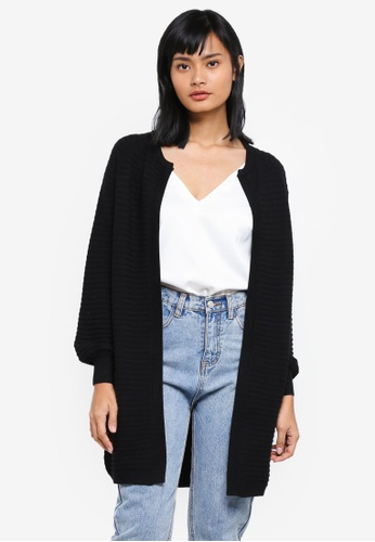Something Borrowed black Knitted Relaxed Cardigan A3D05AA417425EGS_1