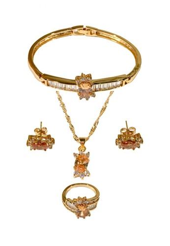 Nadjames gold Njms Clln 4-1 Jewelry Set With Topaz NA782AC45AJAPH_1