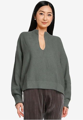 LOWRYS FARM green Knit Pullover FB898AAFD70917GS_1